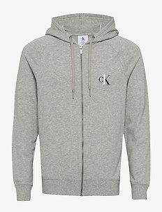 FULL ZIP HOODIE - sweats basiques - grey heather