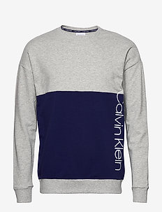 L/S SWEATSHIRT - sweatshirts - grey heather w/ horoscope piec