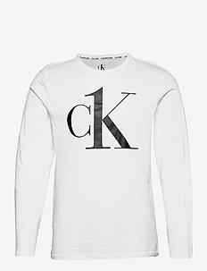 L/S CREW NECK - tops - white