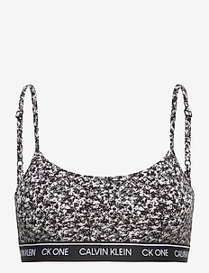 UNLINED BRALETTE - weicher bh - composition print_black