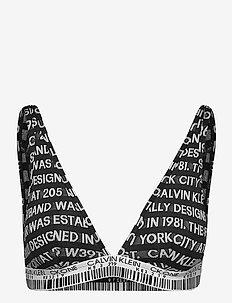 UNLINED BRALETTE - zachte beha - jacquard logo_black