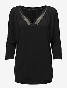 3/4 SLEEVE - tops - black