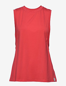 SLEEVELESS CREW NECK - FIRE LILY