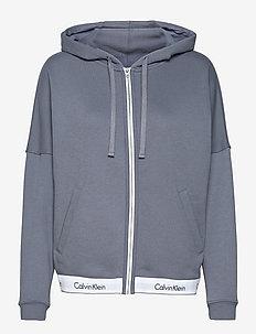 FULL ZIP HOODIE (OVERSIZED) - hoodies - pewter
