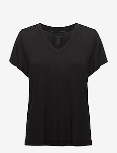 S/S V NECK - overdele - black