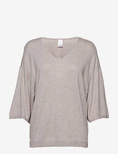 3/4 V NECK - swetry - natural heather