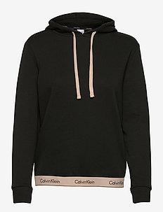PULL OVER HOODIE (REGULAR) - hoodies - black w/ honey almond
