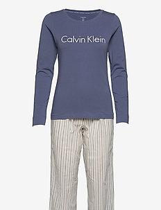 L/S PANT SET - pyjama''s - faded violet/alternating stripe
