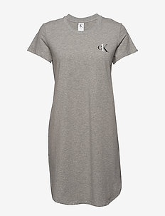 S/S NIGHTSHIRT - GREY HEATHER