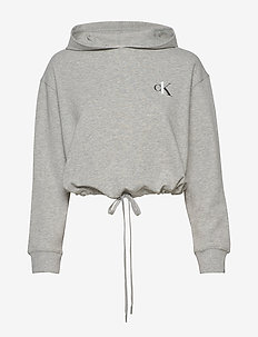 L/S HOODIE - tops - grey heather