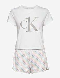 S/S SHORT SET - piżamy - mini ck1 logo_pride_white