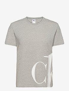 S/S CREW NECK - t-shirts - grey heather