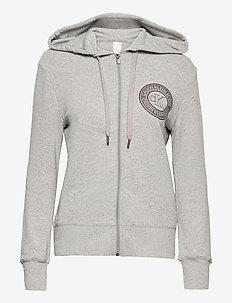 FULL ZIP HOODIE - bluzy z kapturem - grey heather