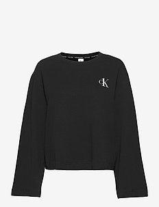 L/S CREW NECK - topy z długimi rękawami - black