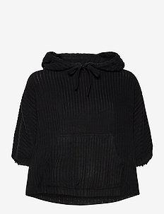 S/S HOODIE - tops - black