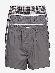 BOXER WVN 3PK - boxershorts - grey sky/glen plaid/matthew st