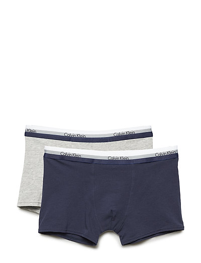 2PK TRUNKS - 1GREYHEATHER/1BLUESHADOW