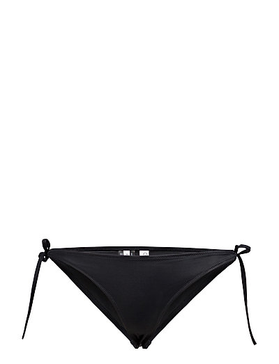 CHEEKY STRING SIDE TIE BIKINI - BLACK