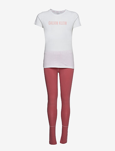 KNIT PJ SET (SS+LEGGING) - pyjamas - washedcherry/w/pvhwhite