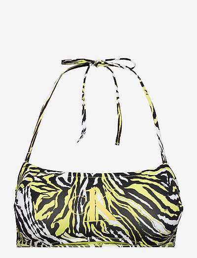 STRAIGHT BANDEAU-RP-PRINT - bh''s - tangled tiger direct green