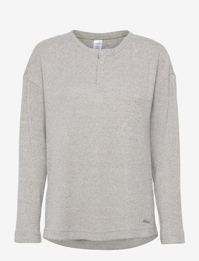 L/S HENLEY - overdele - grey heather