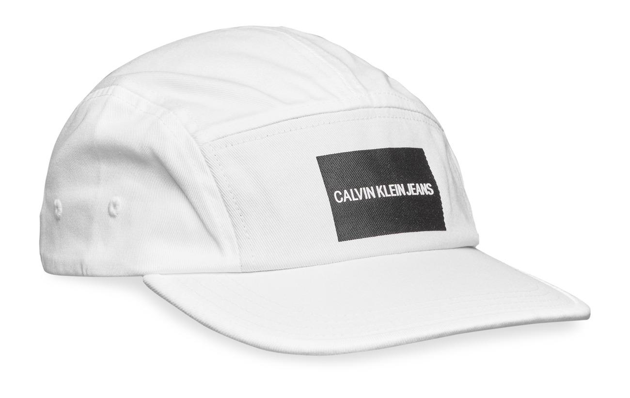 Calvin Klein J PRINTED LOGO CAP M - BRIGHT WHITE