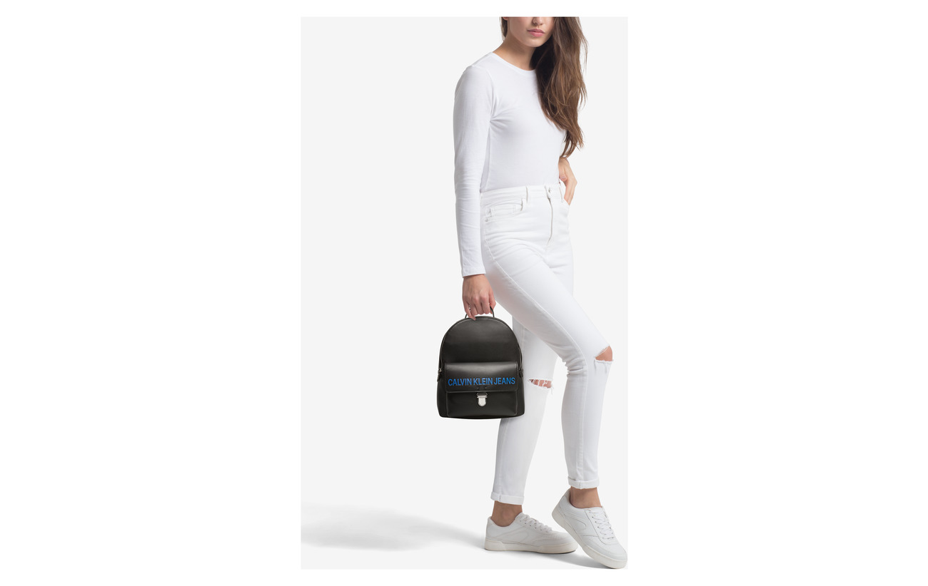 Calvin Backpack Black Sculpted 30 Klein 100 Cp Polyurethane gFrgwTq