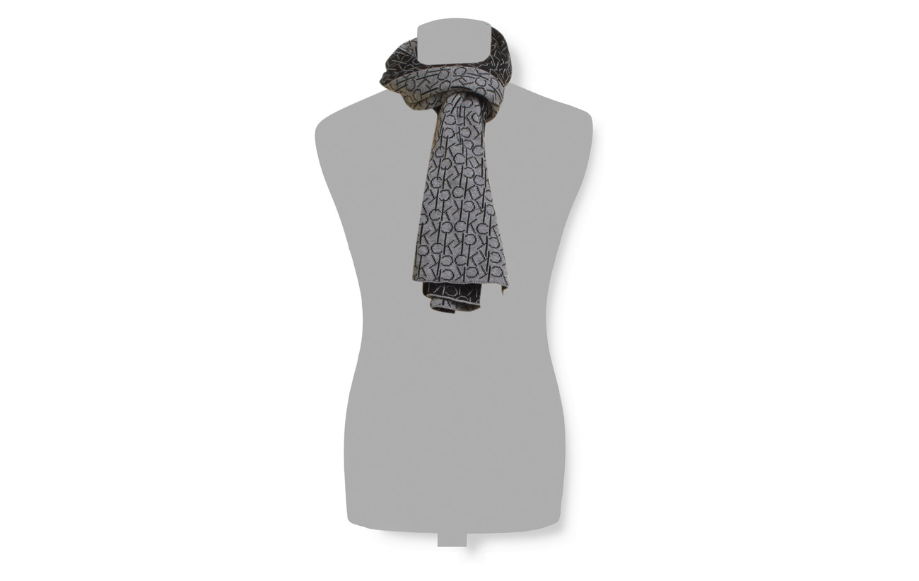 Scarf Knitted B38Vol39Calvin Grey Heather Ck amp;beamid Klein dorCxBe