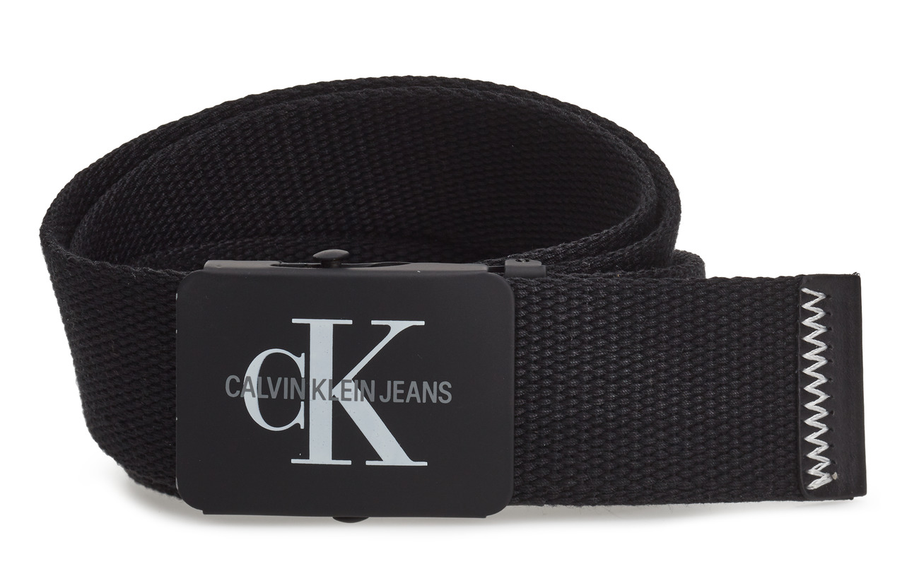 Calvin Klein J 4CM ADJ.MONOGRAM C - BLACK