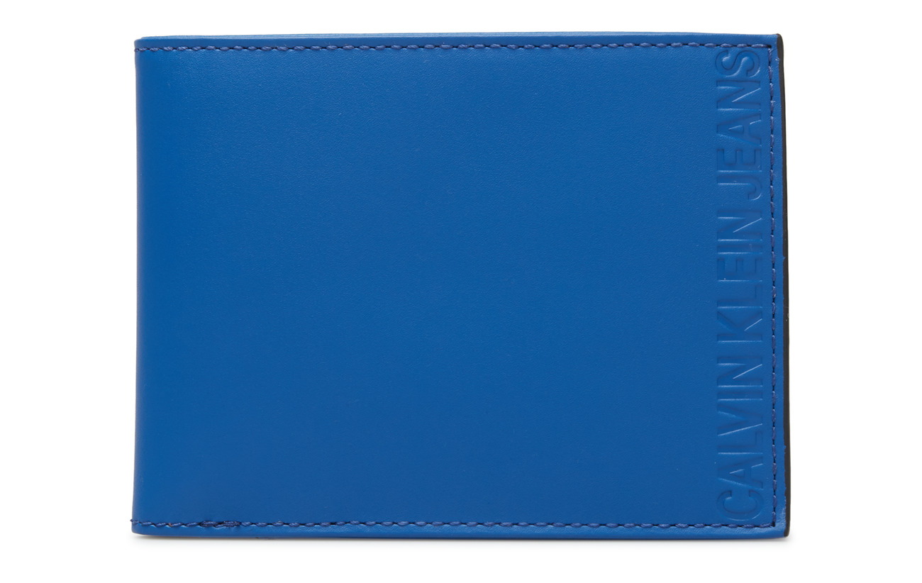 Calvin Klein PLASTIC WALLET W/ KE - NAUTICAL BLUE