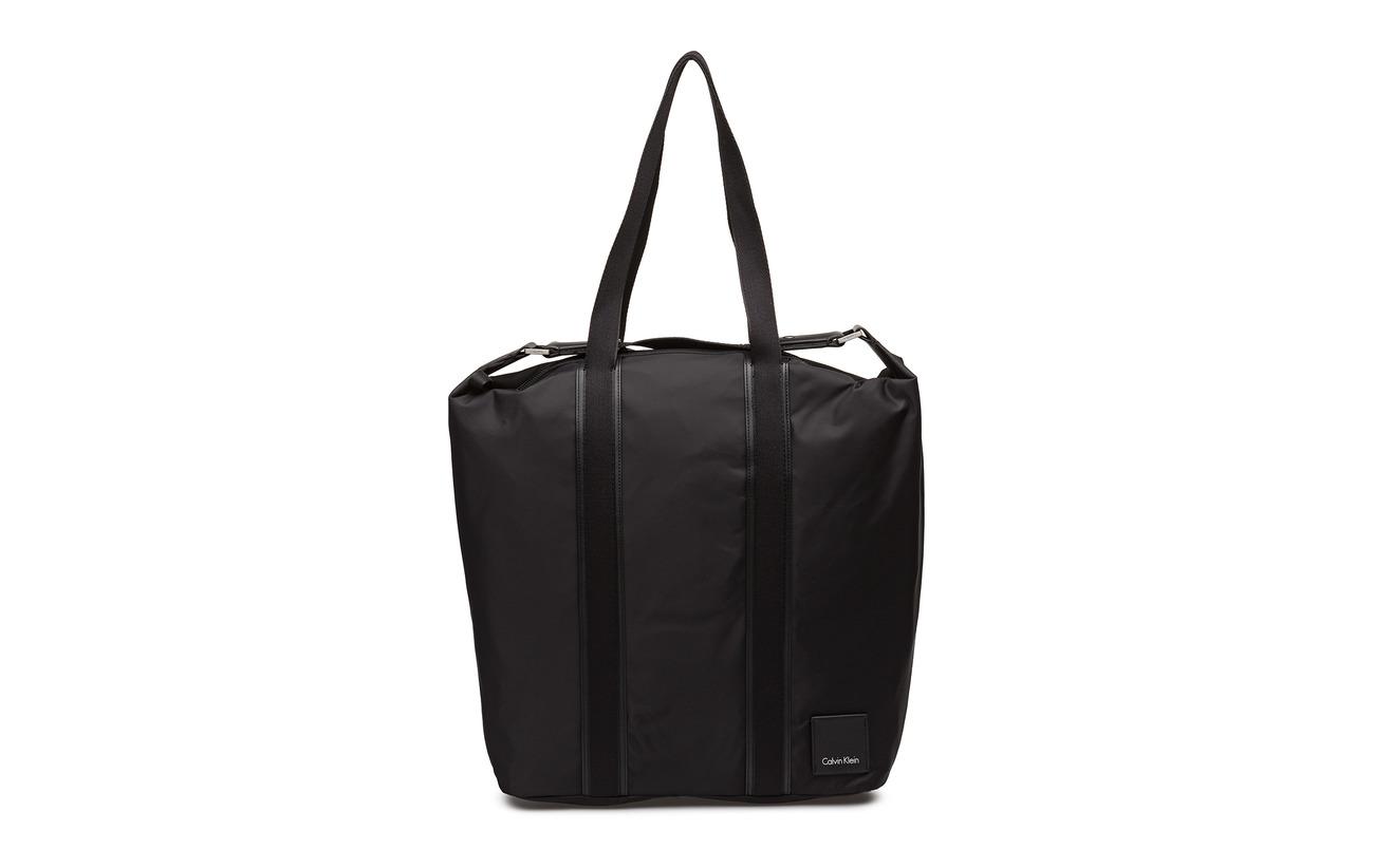 Calvin Polyurethane Shopper Klein Large 35 65 Black Polyamide Fluid wqvFw
