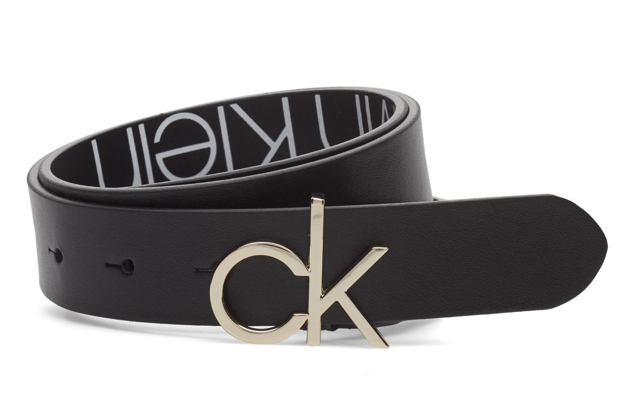 Calvin Klein 3CM LOW CK ADJ.BUCKL - BLACK