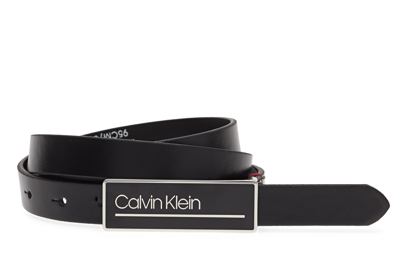 Calvin Klein 2CM ENFOLD PLAQUE BE - BLACK