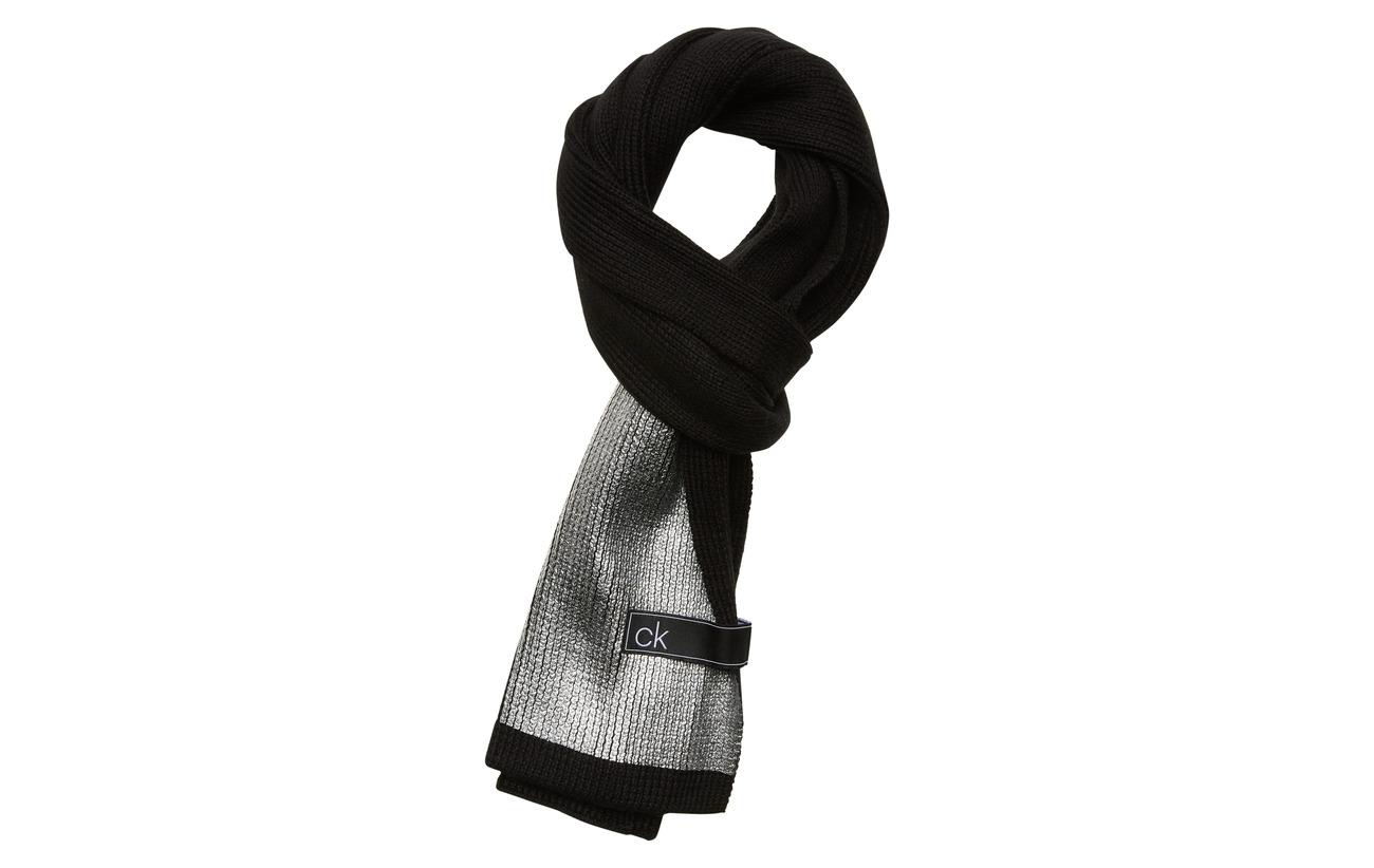 Calvin Klein LAMINA SCARF - BLACK