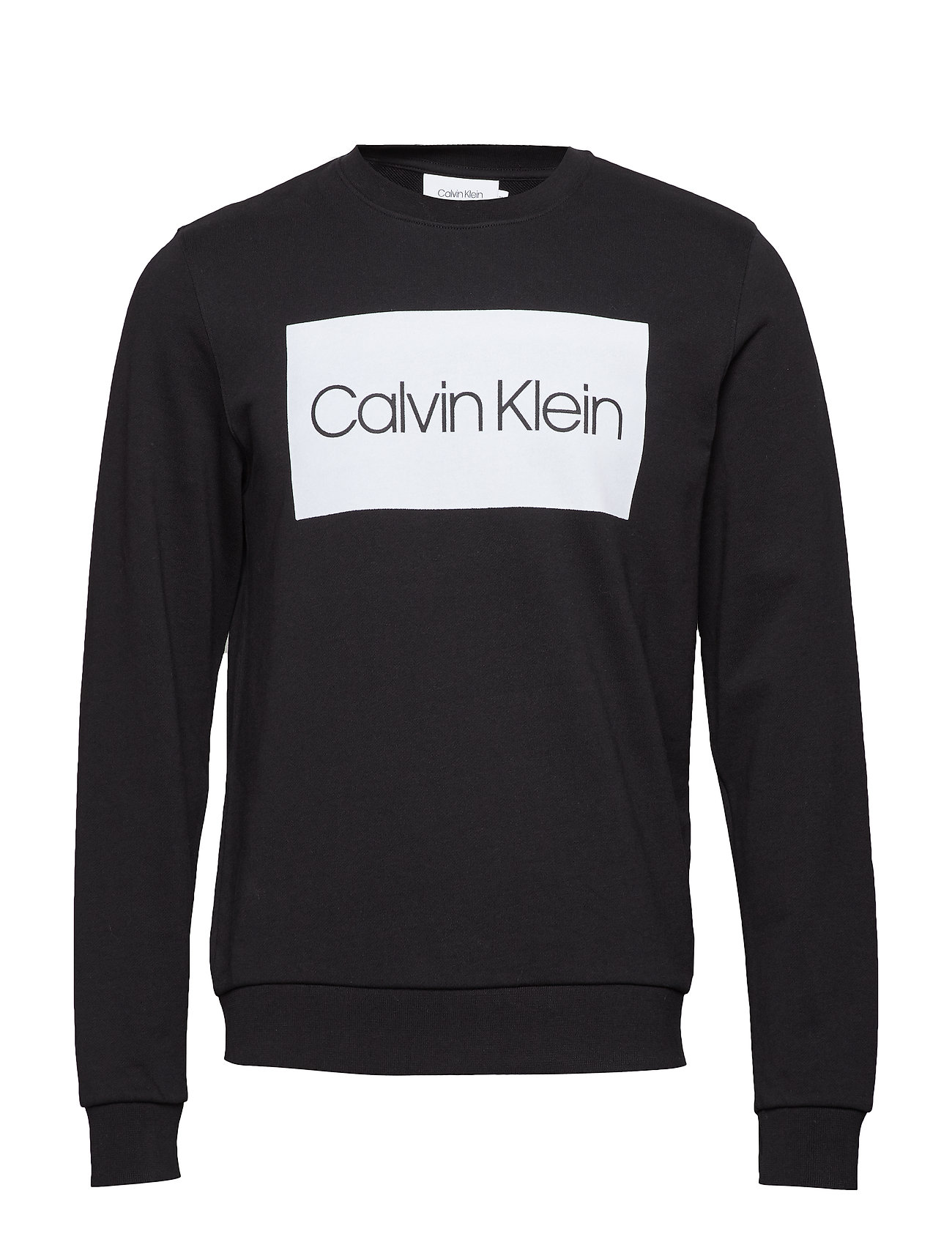 CALVIN KLEIN Cotton Elevated Logo Sweat-shirt Pullover Schwarz CALVIN KLEIN