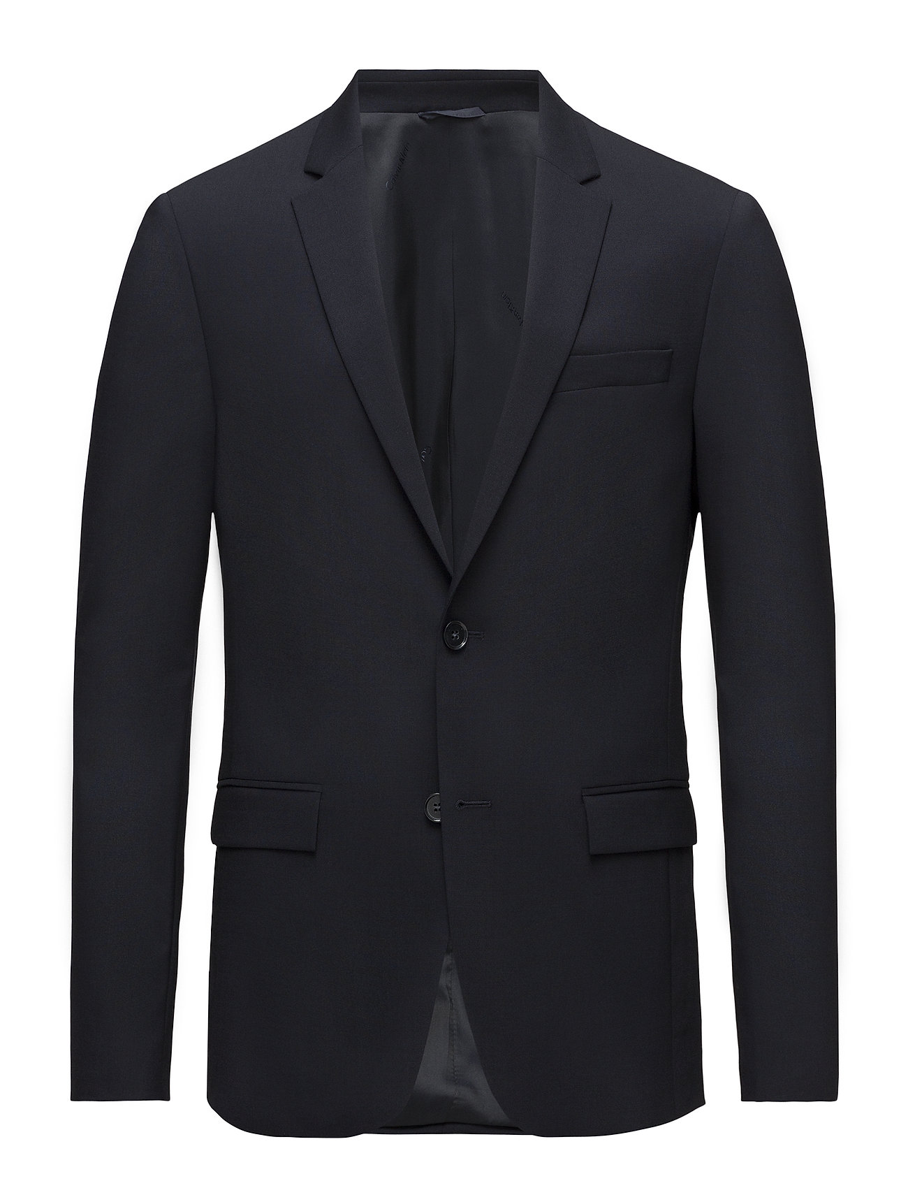 Calvin Klein STRETCH WOOL SLIM SU - MIDNIGHT NAVY