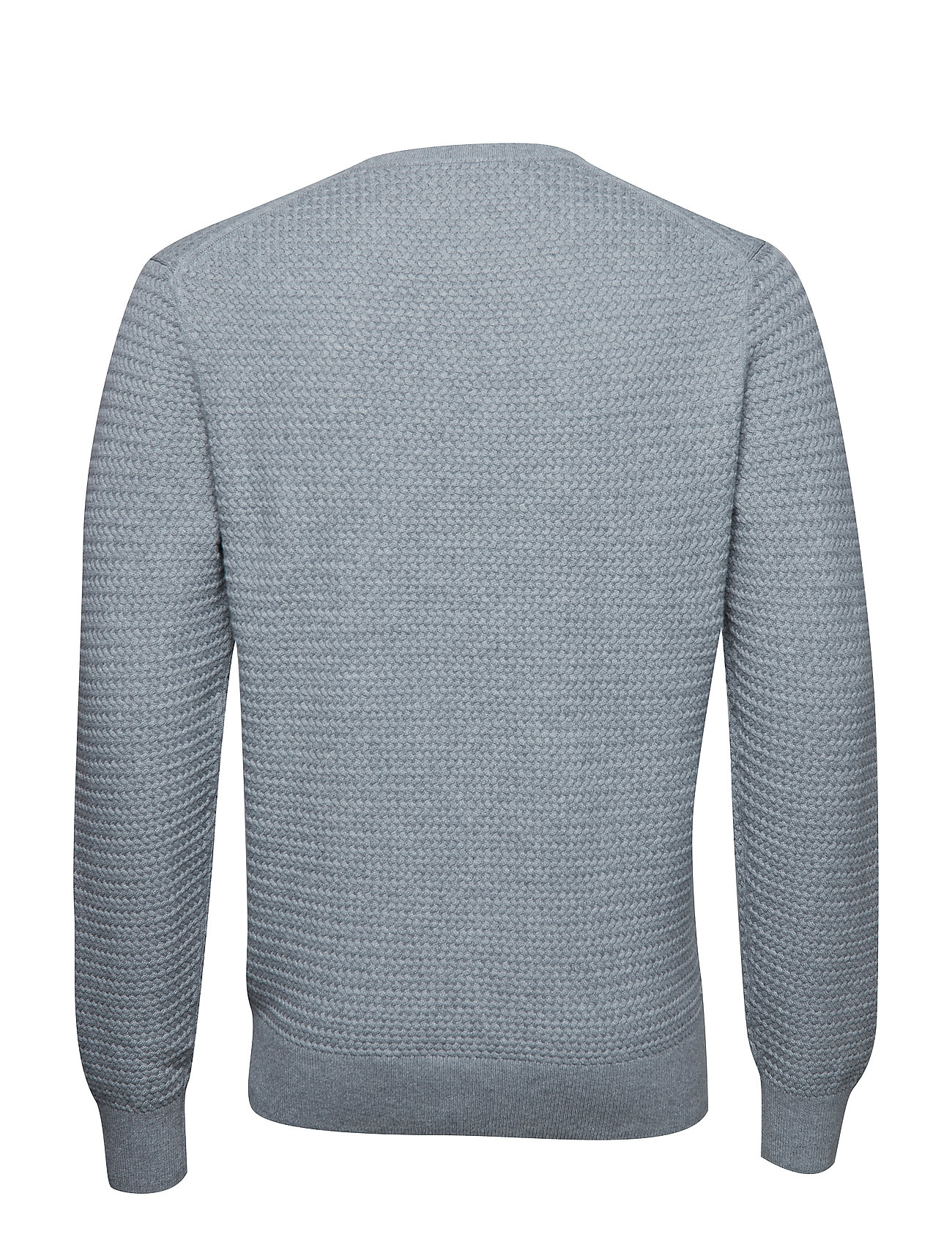 C Cotton HeatherCalvin Klein neck Grey Structure Sweatermid W2IYD9EH