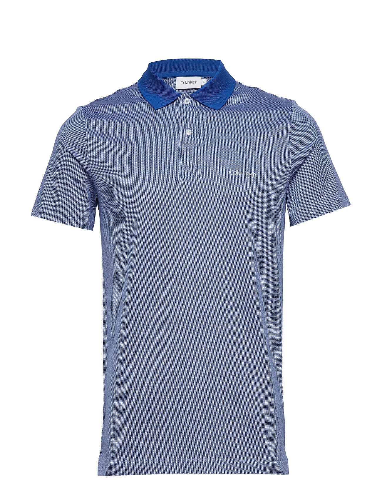 Micro Jacquard Chest Logo Polo Polos Short sleeved Blå Calvin Klein