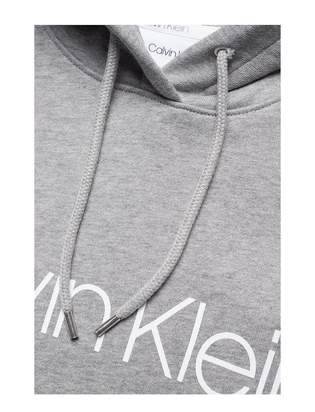 Calvin Klein - COTTON LOGO  HOODIE - hoodies - mid grey heather - 0