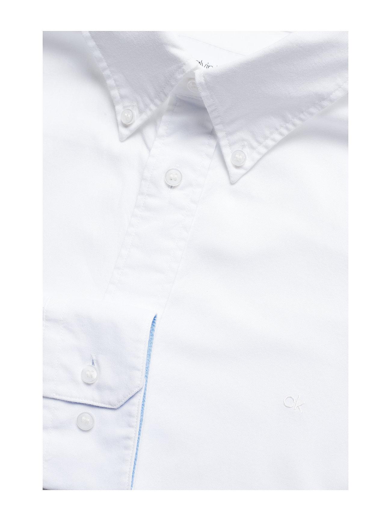 Calvin Klein - BUTTON DOWN WASHED O - basic overhemden - calvin white - 0