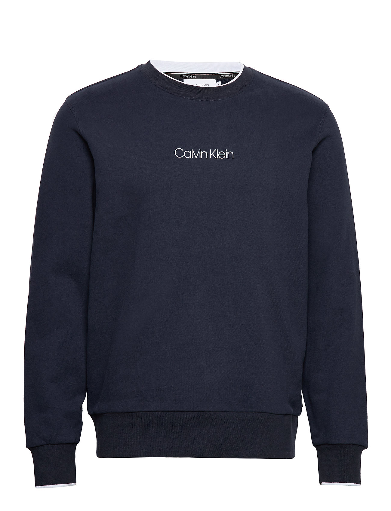 Calvin Klein CARBON BRUSH LOGO SWEATSHIRT - CALVIN NAVY