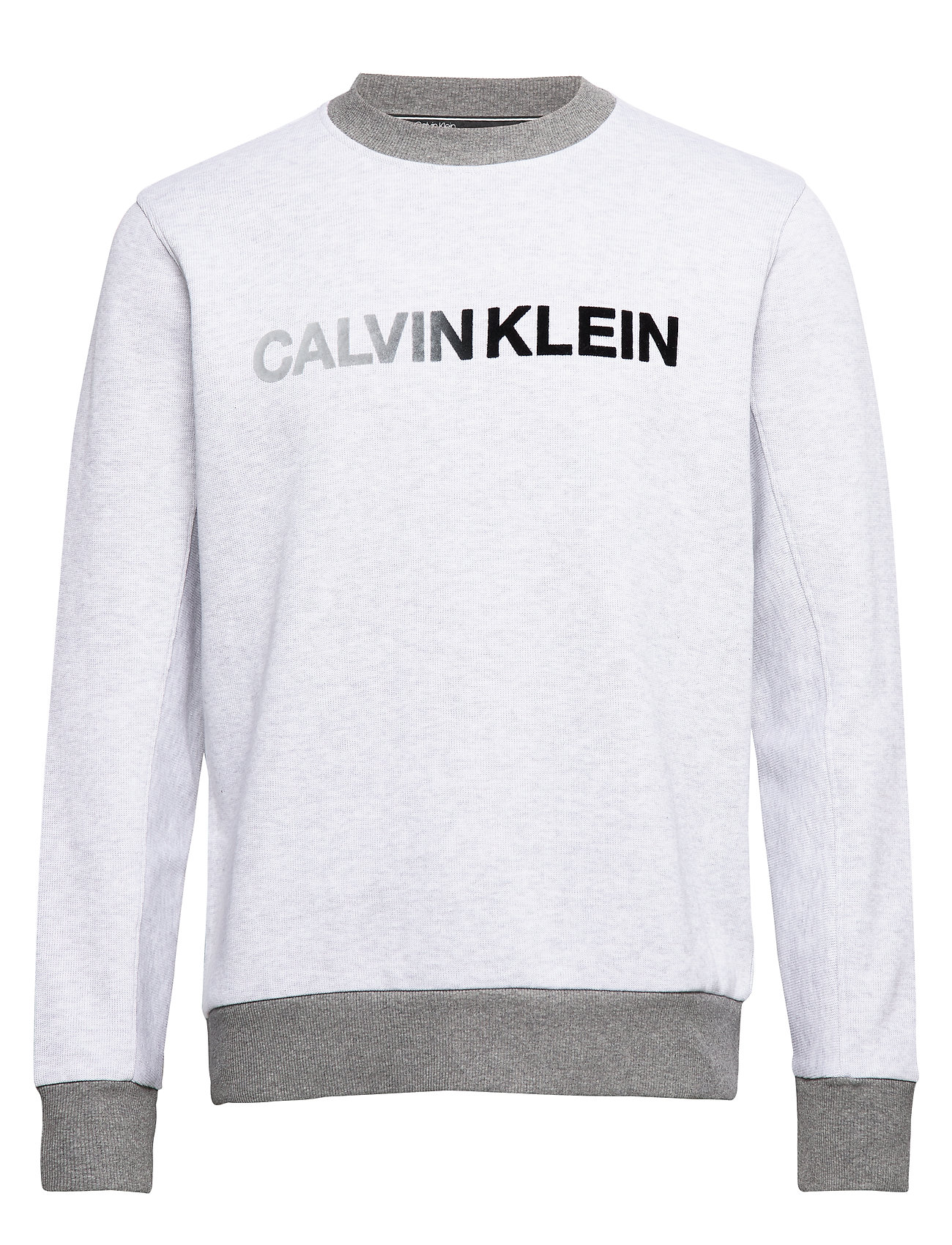 Calvin Klein TONE ON TONE LOGO SWEATSHIRT - LIGHT GREY HEATHER