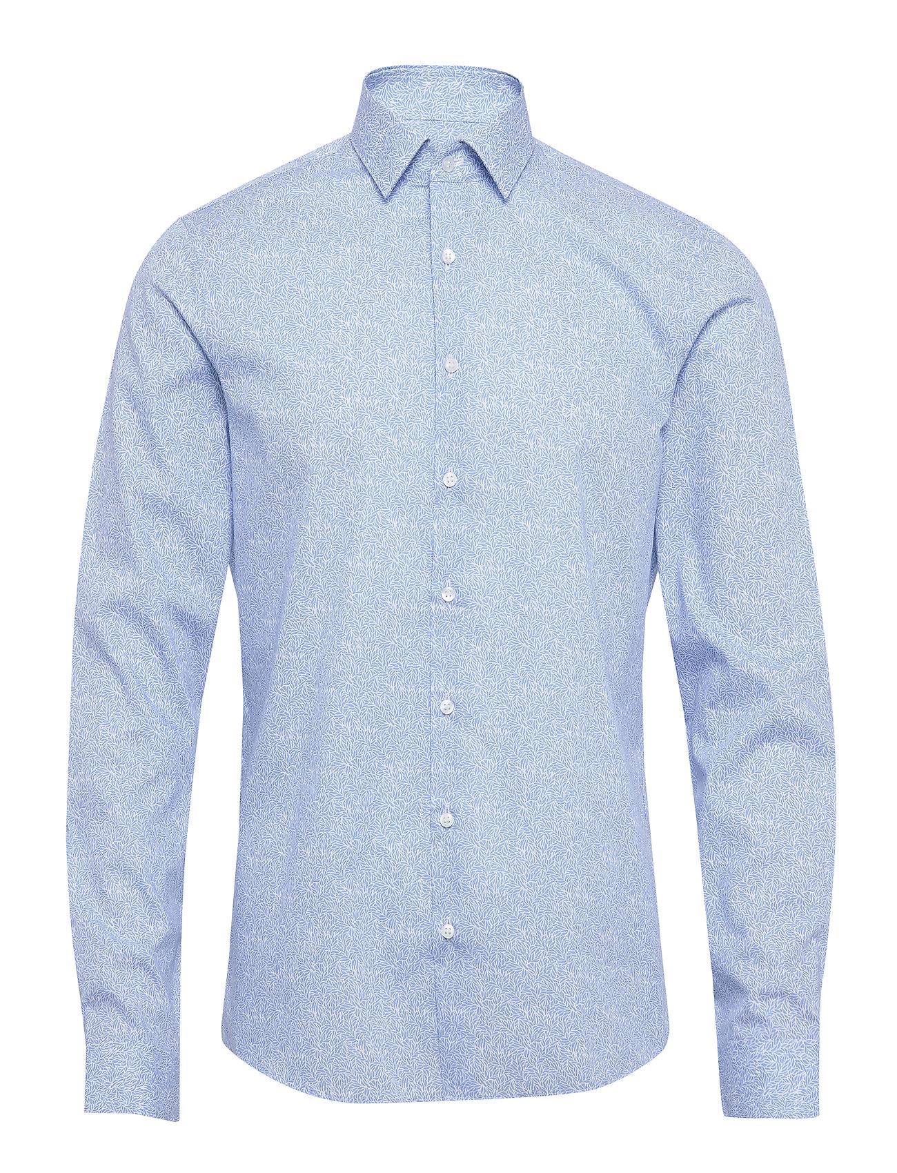 Calvin Klein PRINTED EASY IRON SL - LIGHT BLUE