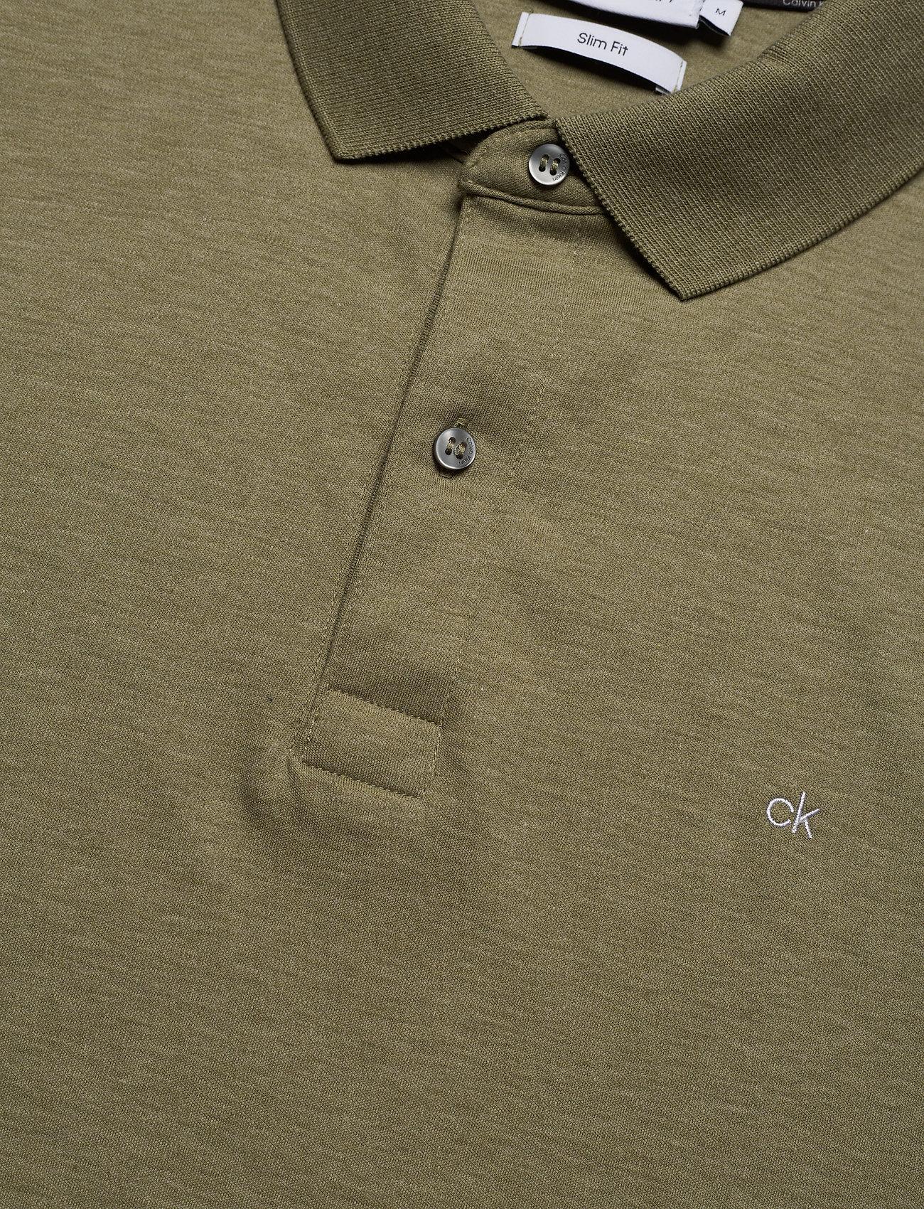 Calvin Klein Soft Interlock Slim Polo - Pikéer Delta Green Heather