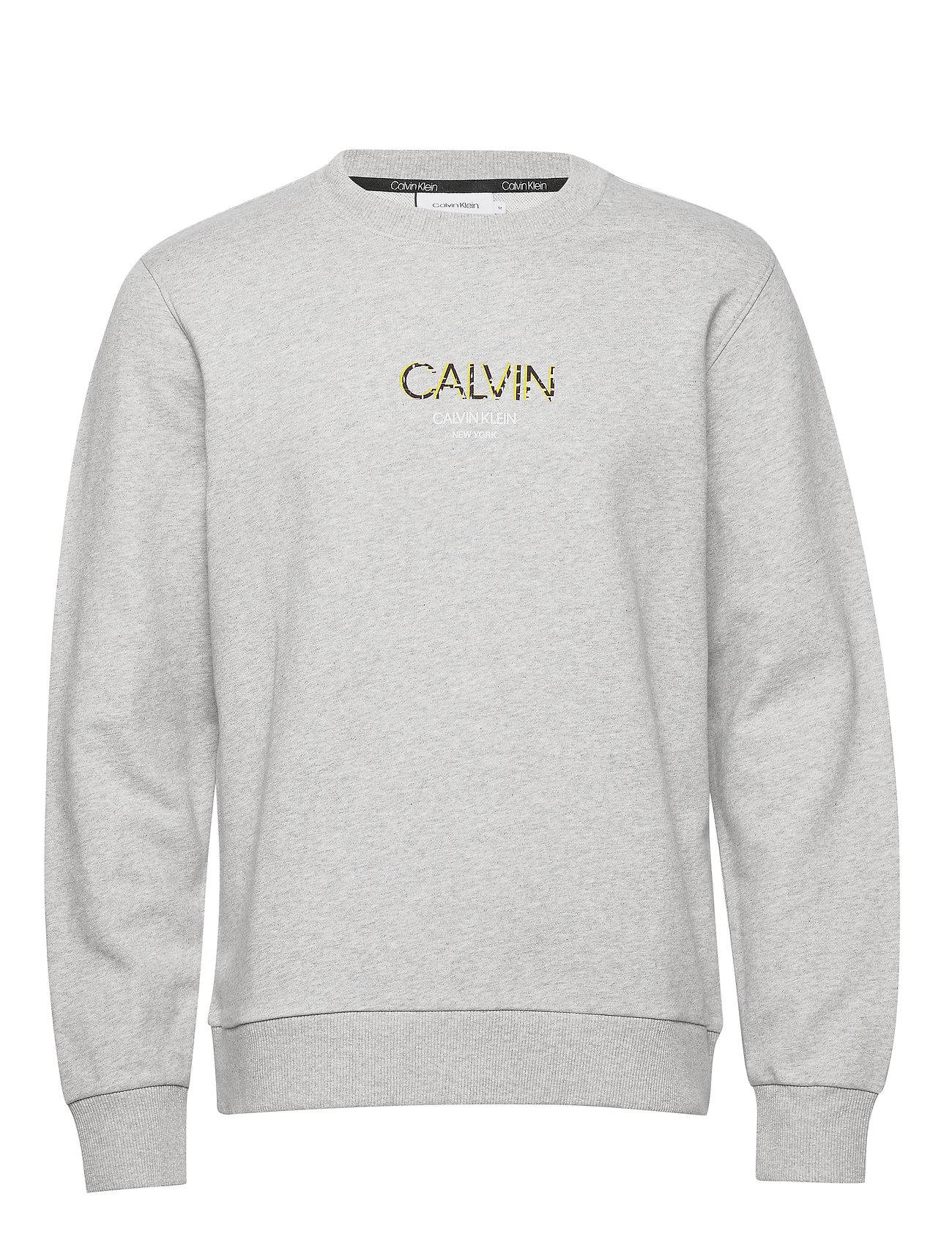 Image of Calvin Small Logo Sweatshirt Sweatshirt Trøje Grå Calvin Klein (3411339049)
