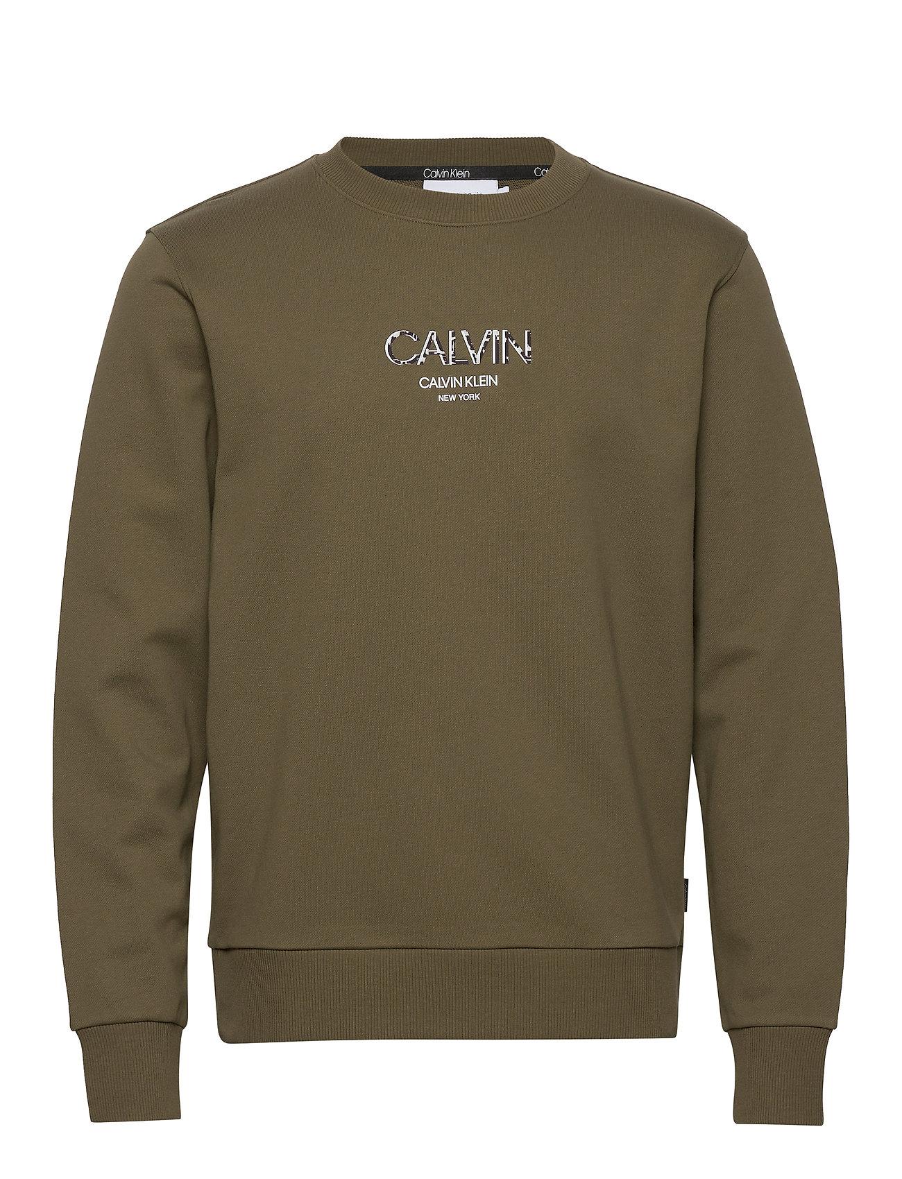 Image of Calvin Small Logo Sweatshirt Sweatshirt Trøje Grøn Calvin Klein (3488997565)