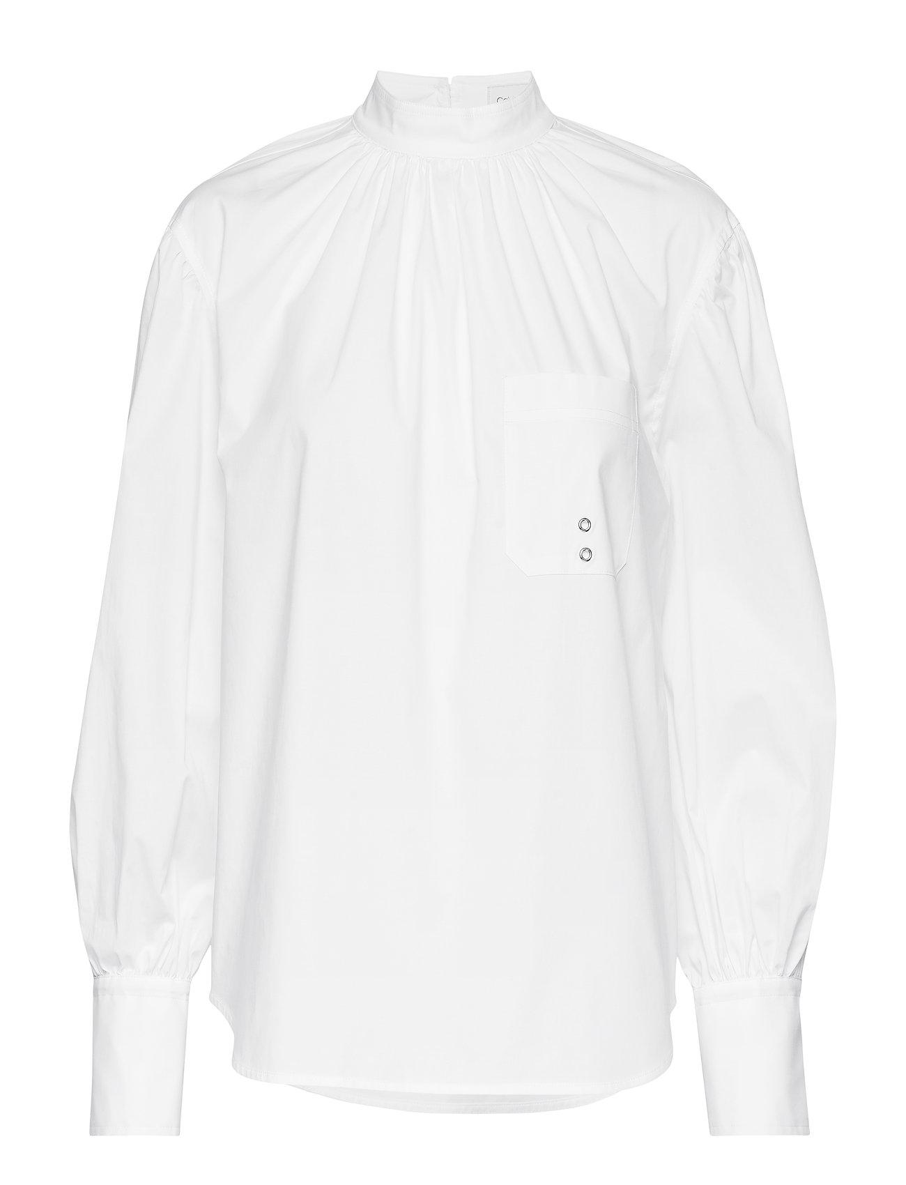 Calvin Klein PKT DETAIL BLOUSE LS - WHITE