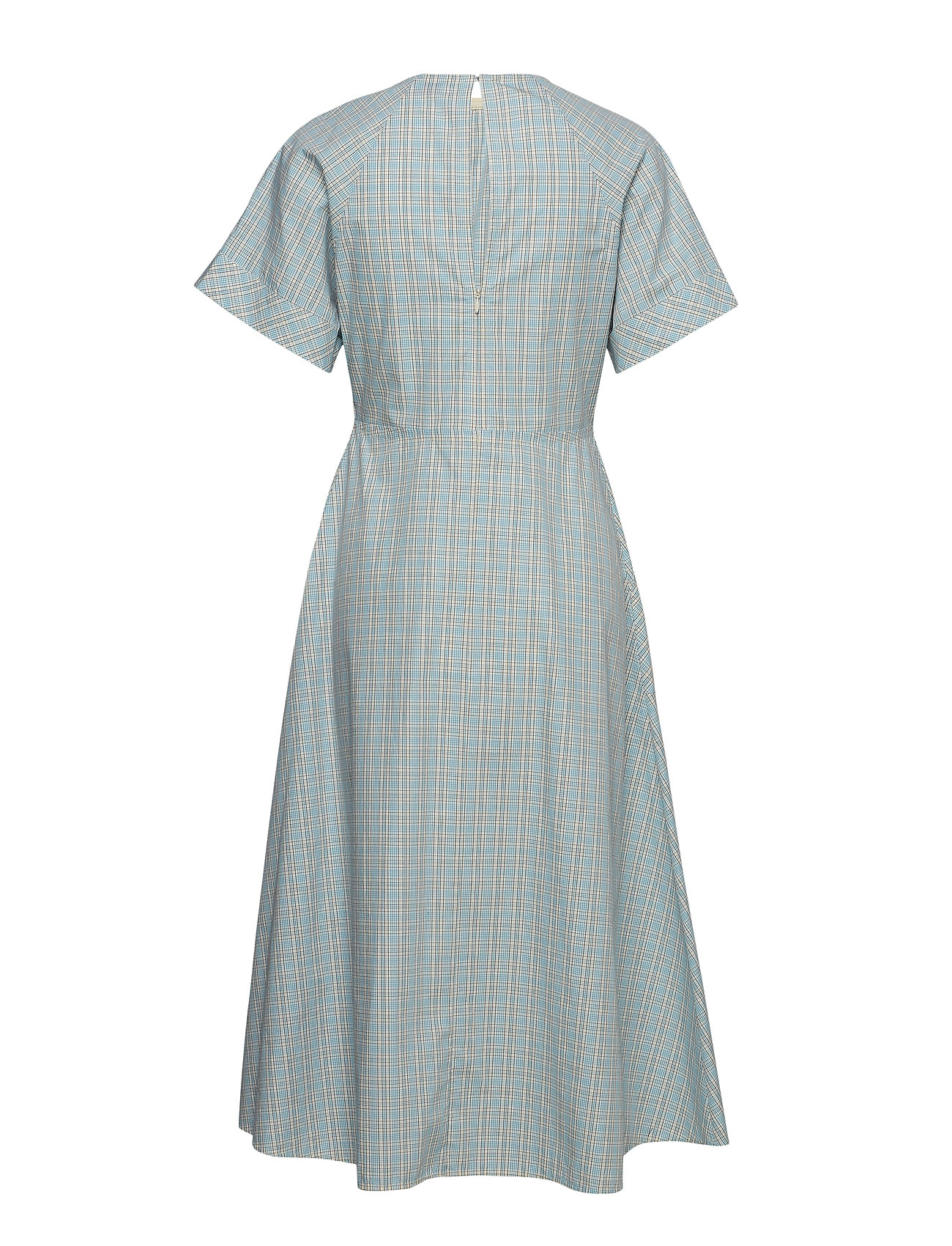 Calvin Blau Farmhouse Chk Dress Kleid Pocket Ss Knielang 35Sale dQthrs