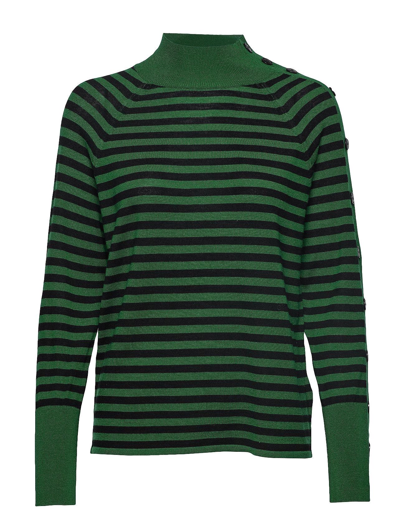 CALVIN KLEIN Extrafine Wool Stp S Rollkragenpullover Poloshirt Grün CALVIN KLEIN