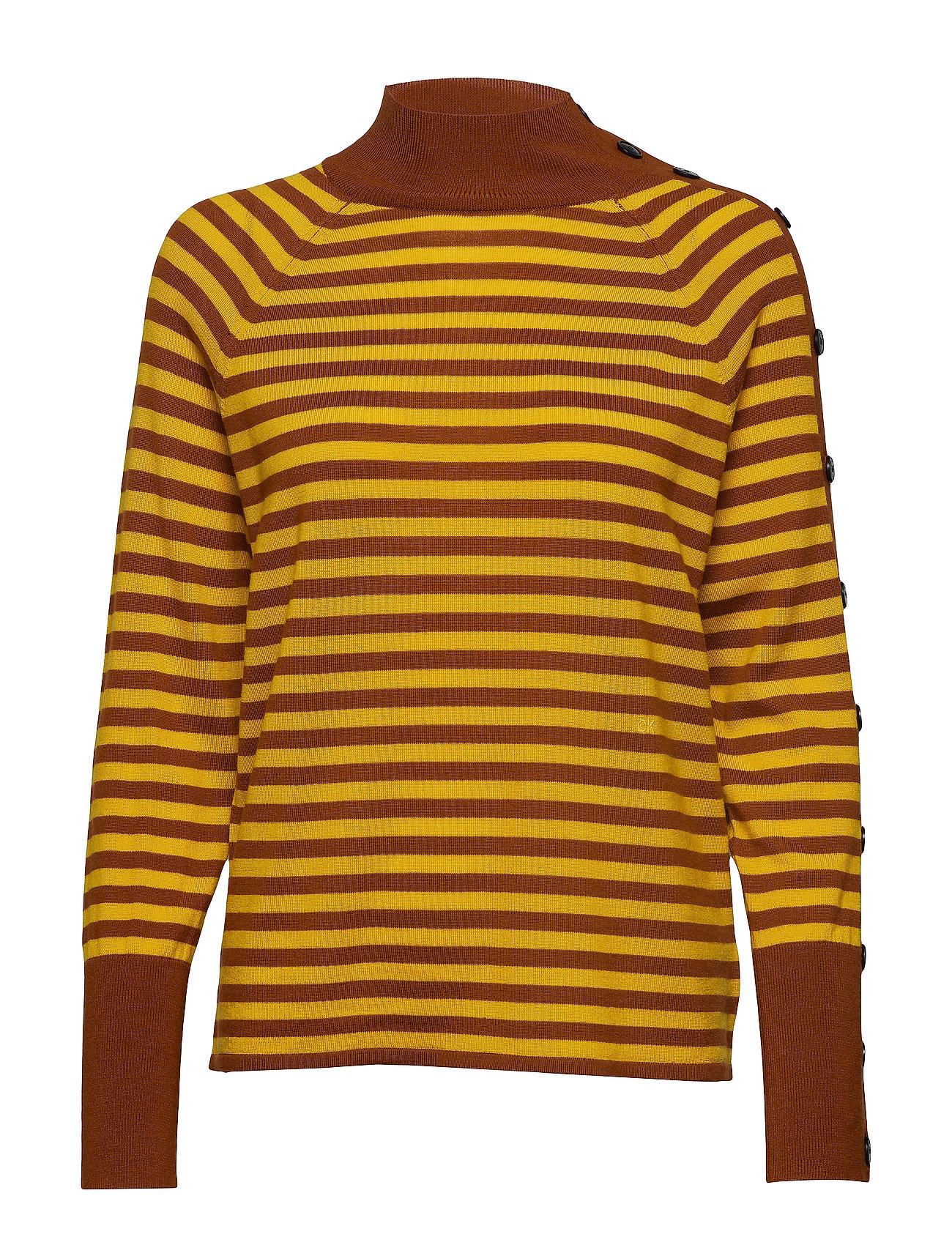 CALVIN KLEIN Extrafine Wool Stp S Rollkragenpullover Poloshirt Gelb CALVIN KLEIN